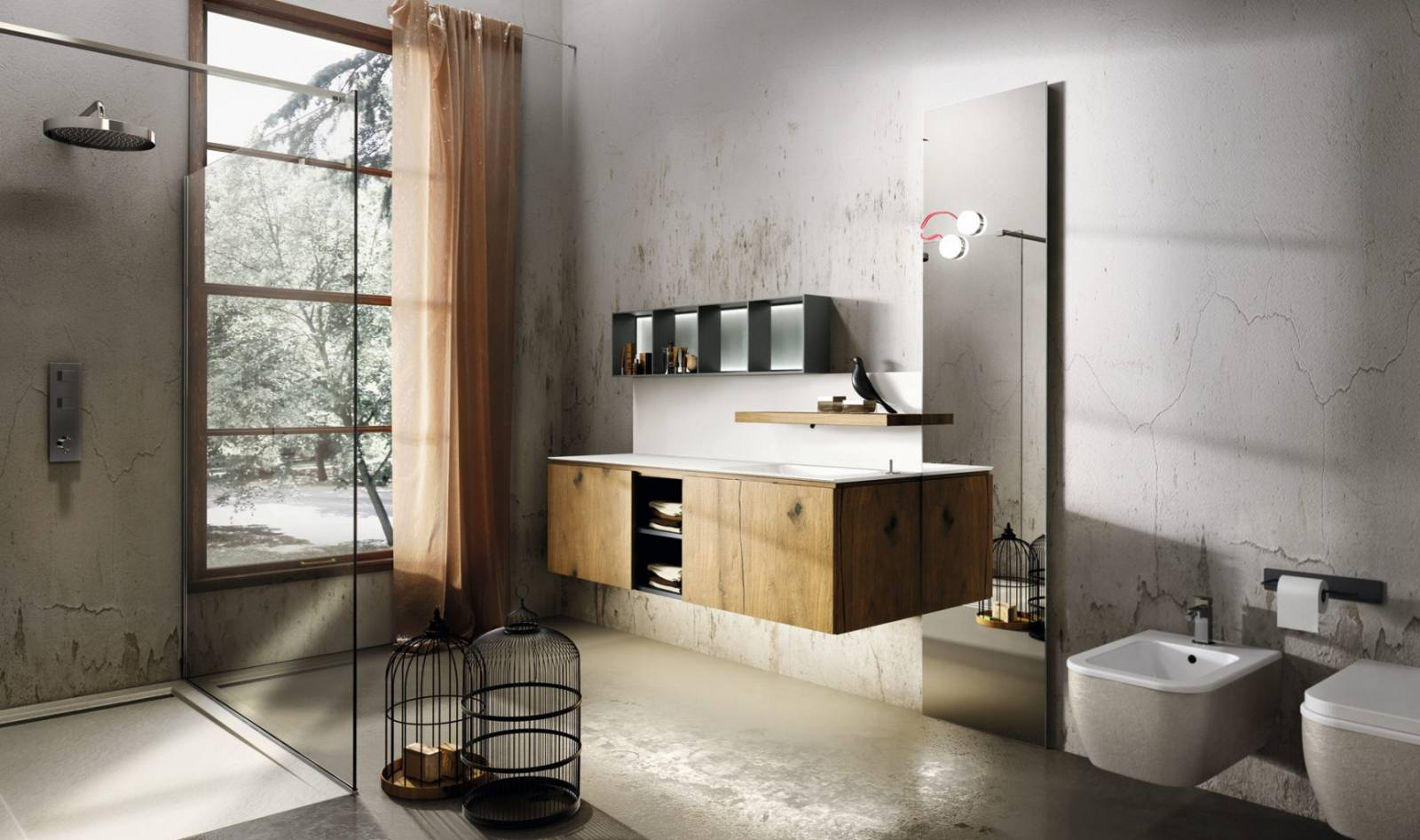 salle de bain industrielle carr d 39 eau. Black Bedroom Furniture Sets. Home Design Ideas