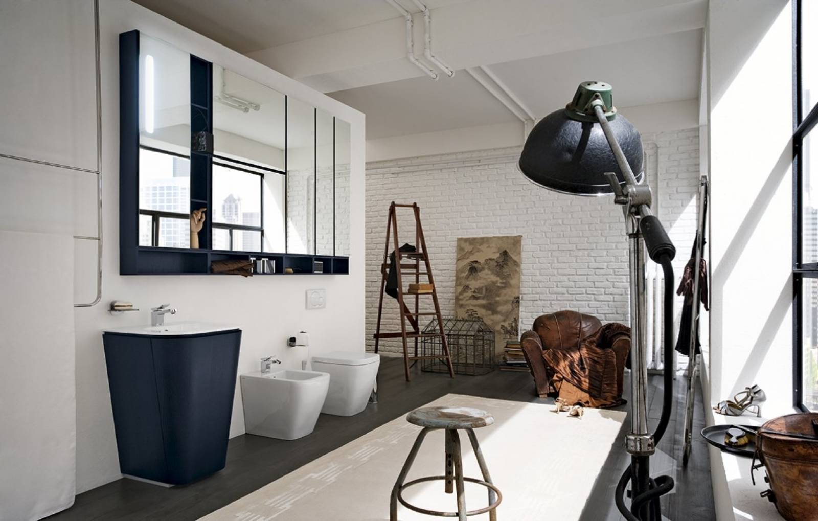 salle de bain style loft industriel montpellier carr d 39 eau. Black Bedroom Furniture Sets. Home Design Ideas
