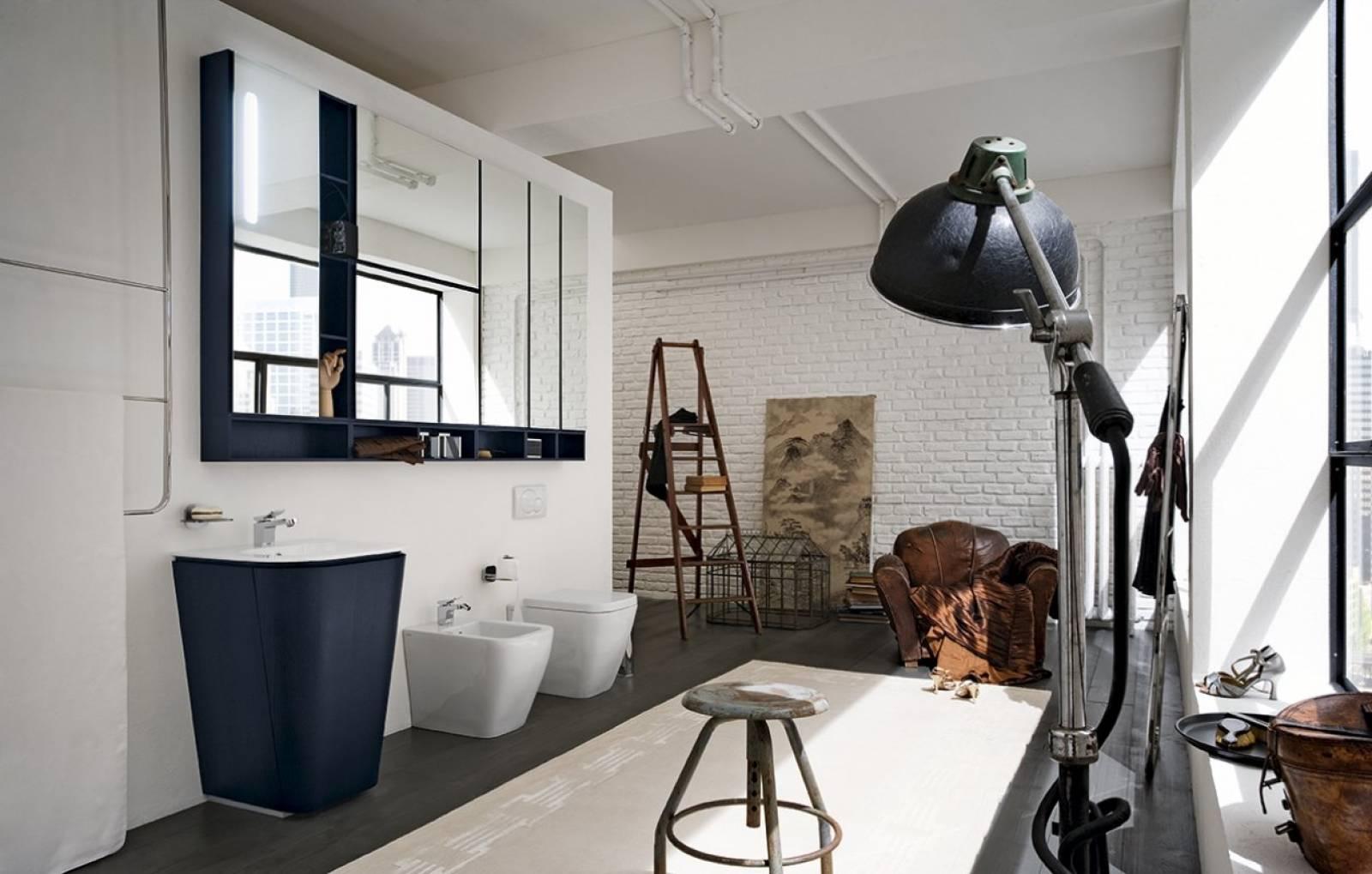 salle de bain industrielle carr d 39 eau. Black Bedroom Furniture Sets. Home Design Ideas