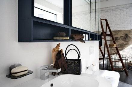 Salle de bain style loft industriel montpellier carr - Salle de bain loft ...