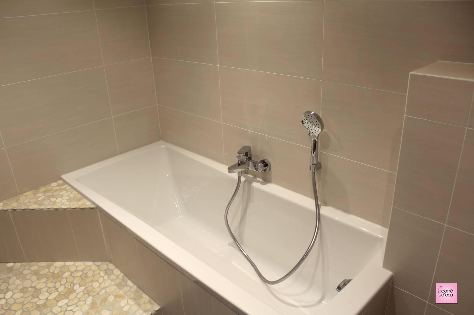 Salle de bain plète et fonctionnelle à Montpellier
