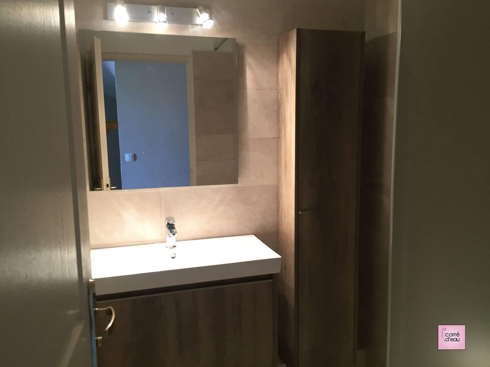 Créer Une Salle D Eau petite salle de bain confortable à castelnau le lez - carré